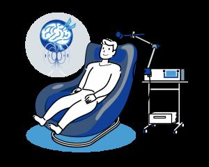 TMS治療のイメージイラストになります。